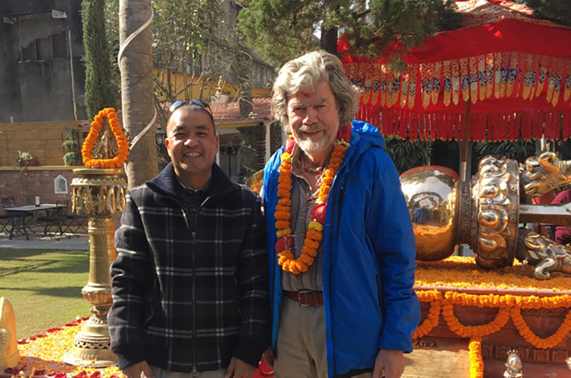 Bhai with Reinhold Messner